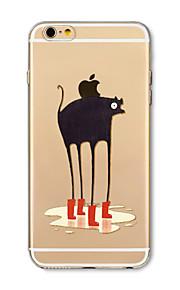 Hoesje voor iphone 7 plus 7 hoesje transparant patroon achterhoes hoesje cartoon dier zacht tpu voor iphone 6s plus 6 plus 6s 6 se 5s 5c 5