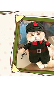 Kat Hund Kostume Hundetøj Cosplay Sømand Rød Lys pink Jægergrøn