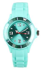 Mulheres Relógio de Moda Japanês Quartzo / Silicone Banda Casual Verde