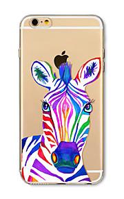 Hoesje voor iphone 7 plus 7 hoesje transparant patroon achterhoes hoesje zebra zebra soft tpu voor iphone 6s plus 6 plus 6s 6 se 5s 5c 5