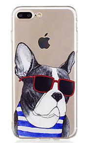 Caso per il iphone 7 più 7 estetica occhiali da sole cassa del telefono morbido tpu del modello del cane per 6s più 6plus 6s 6 se 5s 5
