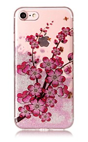 Case For IPhone 7 7Plus 6S 6 6Plus 6S Plus SE 5S 5 Case Cover Plum Blossom Pattern High Transparent TPU Material IMD Craft Chiffon Phone Case