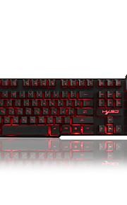 Russo / inglês 3 cores backlight jogo teclado teclado gamer flutuante led backlit usb com sensação mecânica semelhante