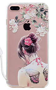 For Apple iPhone 7 7 Plus Case Cover Sexy Beauty Pattern High Permeability Acrylic Backplane TPU Frame Painted Relief Phone Case For iPhone 6S 6 Plus