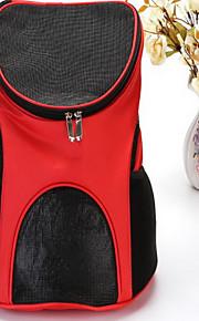 Gato Cachorro Tranportadoras e Malas frente Backpack Animais de Estimação Transportadores Portátil Respirável SólidoMarron Vermelho Azul