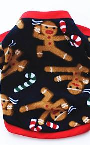 Gato Cachorro Casacos Camiseta Moletom Roupas para Cães Festa Casual Mantenha Quente Rena Azul Escuro Marron