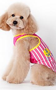 Hund Weste Hundekleidung Lässig/Alltäglich Streifen Blau Rosa