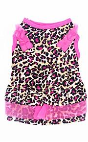 Gato Cachorro Vestidos Smoking Roupas para Cães Festa Casual Casamento Leopardo Leopardo
