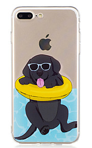 Case For iPhone 7 Plus 7 Summer Swimming Dog Pattern Soft TPU Material Phone Case for 6S Plus 6Plus 6S 6 SE 5S 5