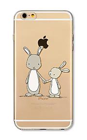 Hoesje voor iphone 7 plus 7 hoesje transparant patroon achterhoes hoesje konijnen zachte tpu voor iphone 6s plus 6 plus 6s 6 se 5s 5c 5 4s