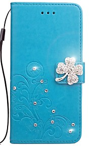 Case for iPhone 7 7 Plus Card Holder Wallet Rhinestone Embossed Pattern Full Body Case Flower PU Leather for iPhone 6 6S 6S Plus 5 5C 5S SE 4 4S