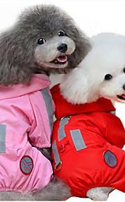 Hund Regenmantel Hundekleidung Lässig/Alltäglich Massiv Rot Rosa
