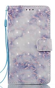 För lg k8 (2017) k10 (2017) fodral täcker blått mönster 3d målade kort stent plånbok telefonväska för lg k7 k8