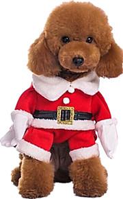 Perro Disfraces Ropa para Perro Navidad Sólido Rojo