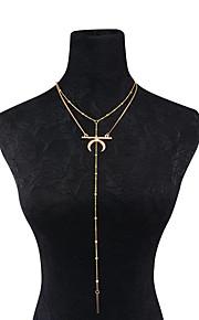 Dame Kort halskæde Y-Halskæder MOON Legering Hængende Vintage Personaliseret Euro-Amerikansk Mode Smykker TilHverdag Afslappet I-byen-tøj