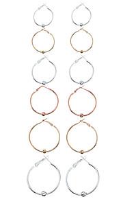 1Set Women's Earring Back Hoop Earrings Circular Euramerican Fashion Metal Alloy Metal Alloy Circle Geometric Jewelry ForCasual Homecoming
