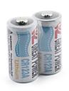 grande poder de bateria de lítio CR123A branco (2-pack)