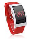 mous en silicone bracelet montres bracelet rouge LED - Rouge