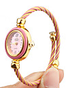 Quartz Watch with Metal Rope Watch Strap - Pink Face Cool Watches Unique Watches