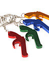 Pistol Shaped Bottle Opener Keychain (Random Color)