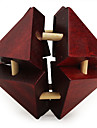 Wooden IQ Brain Teasr Octahedral Lock IQ Puzzle Magic Cube