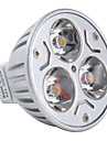 3W GU5.3(MR16) LED-spotlights MR16 3 Högeffekts-LED 270 lm Varmvit DC 12 V