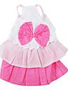 Dog Dress / Clothes/Clothing Pink Spring/Fall Polka Dots