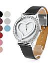 coração de moda feminina em forma de banda pu relógio de pulso de quartzo (cores sortidas)