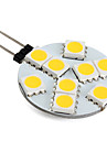 G4 2W 9 SMD 5050 100 LM Warm White LED Bi-pin Lights V