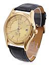 Men\'s PU Analog Mechanical Casual Watch (Gold)