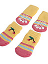 Socks & Boots for Dogs Yellow Spring/Fall Cotton