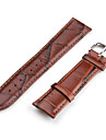 Unisex Genuine Leather Watch Strap 22MM (Black)