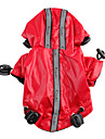 Dog Rain Coat Red Black Dog Clothes Summer Spring/Fall Solid Waterproof
