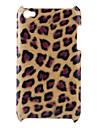 leopardo caso de impressão difícil para ipod touch 4 (marrom)