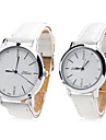paire de unisexe montre-bracelet analogique pu quartz (blanc)