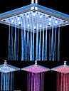 8-inch 12-LED Square Acrylic Ceiling Shower Head (Assorted Colors)