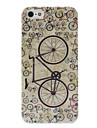 Bicycle Pattern Hard Case for iPhone 5/5S