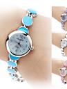 Женские Часы-браслет Кварцевый Группа Элегантные часы Черный Белый Синий Розовый Фиолетовый