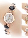 Women\'s Alloy Analog Quartz Bracelet Watch (Gold)