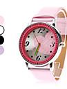 여성의 큰 가슴 모양 PU 아날로그 석영 손목 시계 (여러 색)