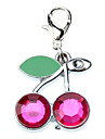 Rhinestone Decorated Cherry Style Collar Charm for Dogs Cats