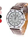 Женские аналоговые кварцевые наручные часы с белым циферблатом и ремешком из кожзама (разные цвета)