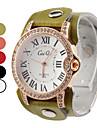 여성의 우아한 가죽 아날로그 석영 손목 패션 시계 (여러 색)