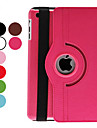 For Case Cover with Stand Auto Sleep / Wake 360° Rotation Full Body Case Solid Color PU Leather for iPad Mini 3/2/1