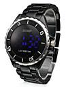 Unisex Blue LED Digital Black Ceramic Band Wrist Watch Cool Watch Unique Watch