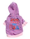 Chien Pulls à capuche Violet Vêtements pour Chien Printemps/Automne Lettre et chiffre