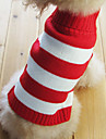 Cat / Dog Sweater / Clothes/Clothing Red Winter Stripe