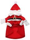 Gatos / Caes Fantasias / Casacos / Roupa Vermelho Roupas para Caes Inverno Fantasias / Natal / Ano Novo / Dia Das Bruxas