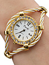Dames Modieus horloge Kwarts Legering Band Glitter / Bangle armband Goud Merk-