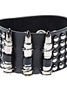 Punk Style Bullet Rivet Leather Bracelet